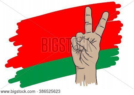 Hand And Flag.