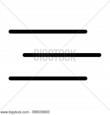 Paragraph With No Alignment Icon - Vector Illustration.