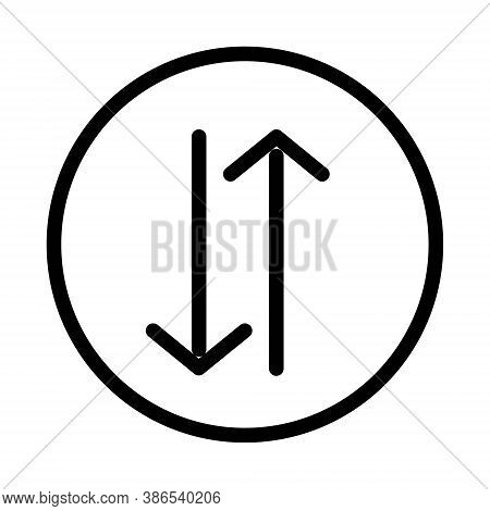 Up And Down Arrows Icon - Vector Illustration. Sort Button Sign.