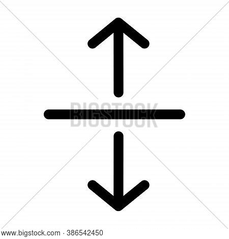Horizontal Split Vector Icon Isolated On White Background. Divide Arrows Sign.