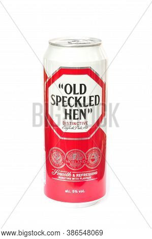 Yateley, Uk - September 22: Can Of Old Speckled Hen English Pale Ale First Brewed By Morland/greene