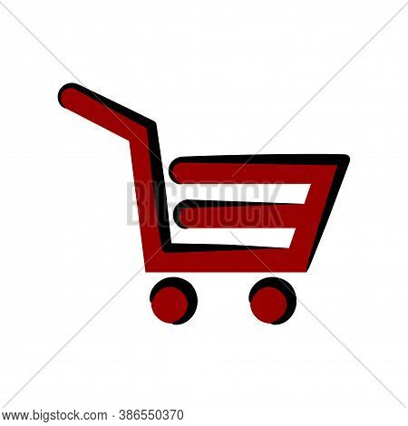 Shopping Cart Icon. Shopping Cart Icon Vector, Trolley Logo, Shopping Cart Logo, Web Icons, Trolley