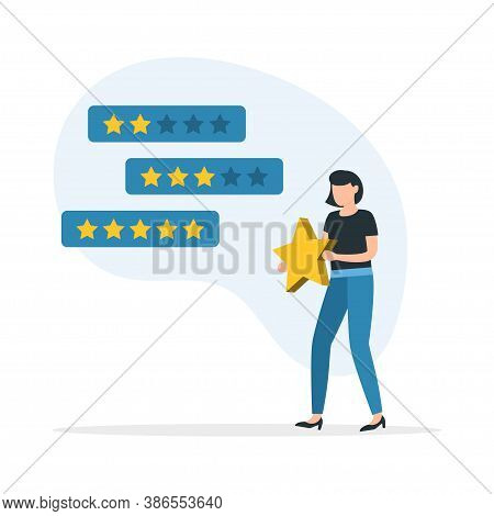 Feedback. Evaluation Of Customer Reviews.customers Evaluating A Product, Service. Customer Service A