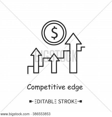 Competitive Edge Line Icon. Business Advantage. Market Leadership. Winning Strategy. Modern Business