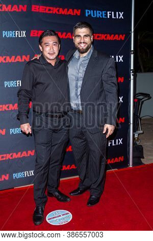 Nobuaki with Alex Bentley at the premiere of