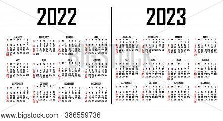 Calendar 2022 2023.Calendar 2022 2023 Vector Photo Free Trial Bigstock