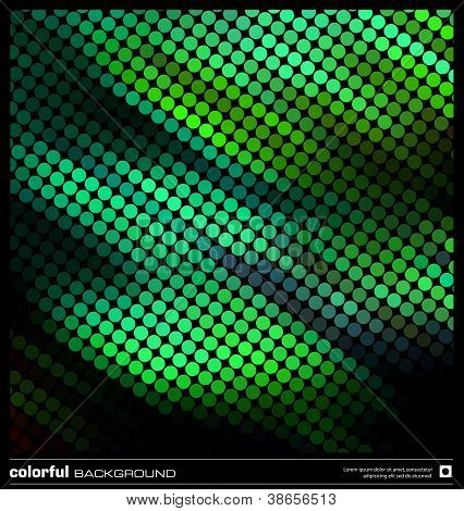abstract motion green background design teplate. modern pixel mosaic vector illustration (eps10) poster
