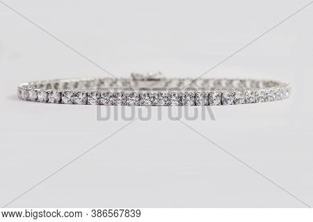 Diamond Tennis Bracelet In 4 Prong White Gold