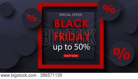 Black friday sale banner. Black friday sale banner. Celebration Balloon Sales Black Friday on a Grey background. Balloons Black Friday. Balloons Black friday with gold realistic bow on the black background. bow realistic. Black Friday