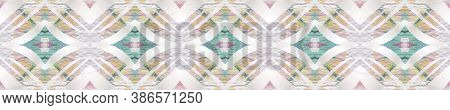 Geometric Rug Pattern. Pastel Blue And Rose Seamless Texture. Abstract Kaleidoscope Design. Repeat T