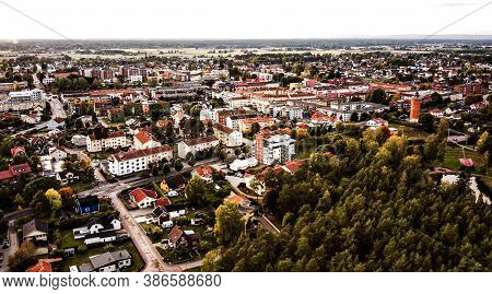Drone Footage Of The Swedish Town Of Kumla In September