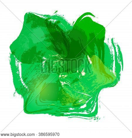 Watercolor Abstraction. Green Watercolor Spot. Vector Stock Illustration For Backgrounds And Theme D