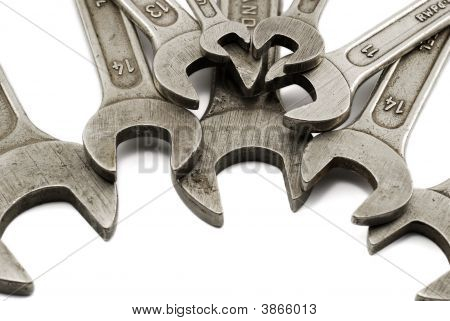 Spanners Isolated On White