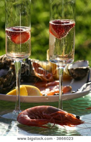 Bubbles And Seafood