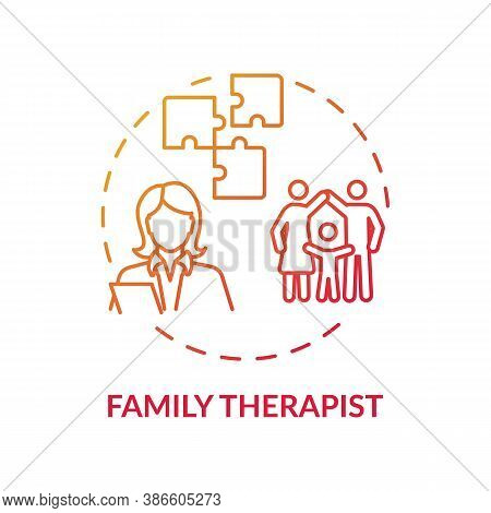 Family Therapist Concept Icon. Medical Speciality Idea Thin Line Illustration. Counseling. Better Un