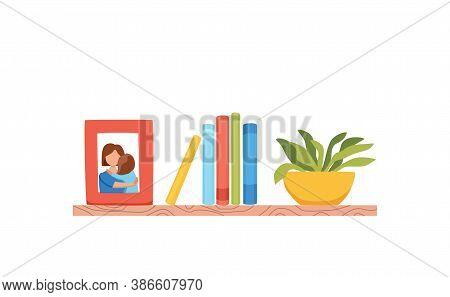 Bookshelves Vector Wall Design For Bestsellers In Store,
