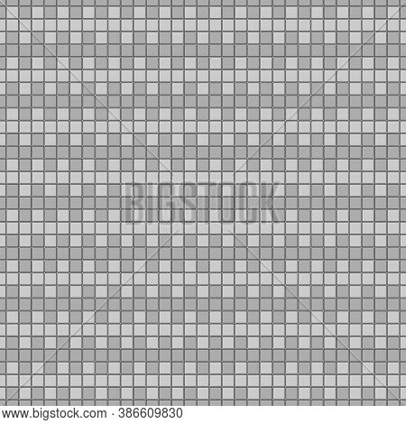Seamless Horizontal Striped Pattern. Repeated Grey Counter Embattled Blocks Lines Background. Herald