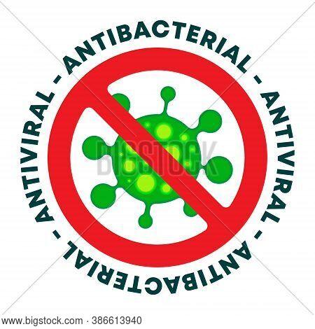 Antibacterial Gel Icon - Antiviral Sanitizer Sign. Vector Illustration