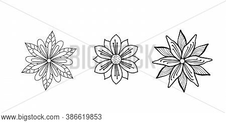 Sacred Geometry Flower Abstract. Mandala Ornament, Esoteric Or Spiritual Symbol. Isolated Over White