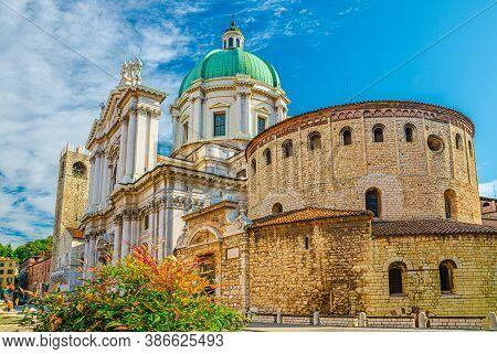Santa Maria Assunta Cathedral, Duomo Nuovo And Duomo Vecchio La Rotonda, New And Old Cathedral Roman