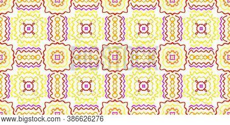 Azulejo Ornament. Red And Orange Textures Ethnic. Tie-dye Boho Fashion Tile Print. Geometric Repeate