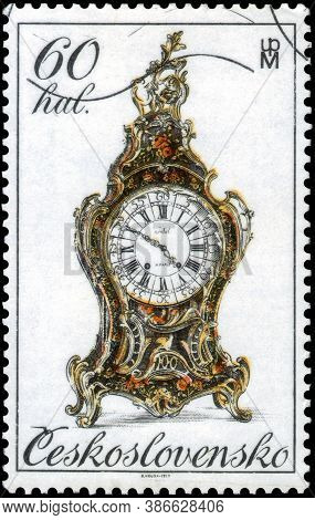 Saint Petersburg, Russia - May 31, 2020: Postage Stamp Issued In The Czechoslovakia The Image Of 18t