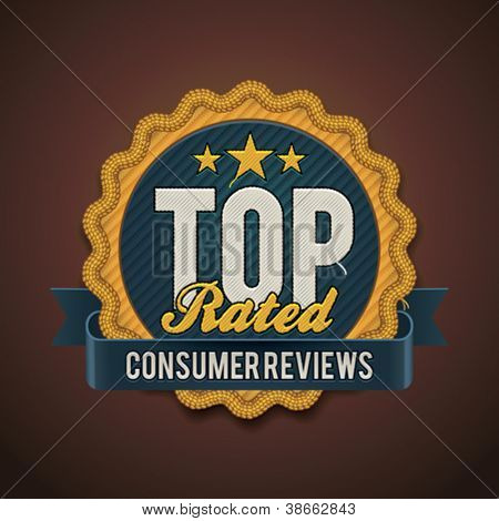 Vector best top rated badge