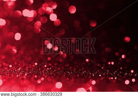 Dark Red, Maroon,black Circle Abstract Light Background, Abstract Bokeh Red Shining Lights, Sparklin