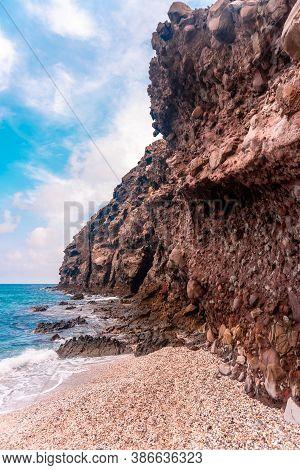 Playa De Los Muertos And The Rocks Of The Walls In The Natural Park Of Cabo De Gata, Nijar, Andaluci