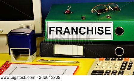 Franchise. Text Label On The Registrar's Office Folder. Commercial Concession -- Transfer Of Rights