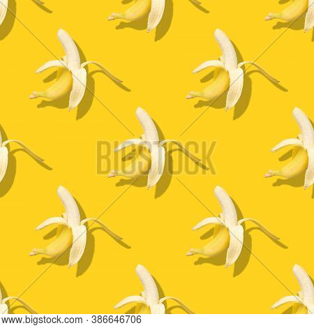 Seamless Pattern With Banana. Abstract Banana Background