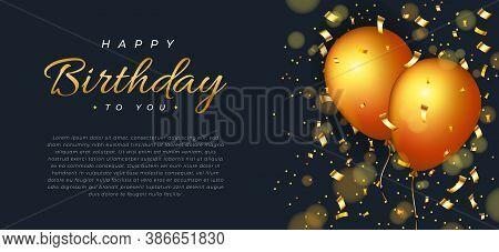 Happy Birthday . Happy Birthday background . Happy Birthday banner . Happy Birthday design . Happy Birthday design . Happy Birthday image . Happy Birthday template . Abstract gold birthday background design . vector illustration of Happy Birthday design