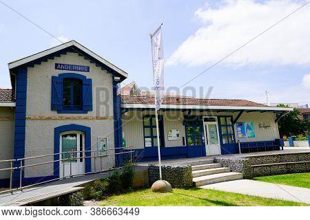 Andernos-les-bains , Aquitaine / France - 09 20 2020 : Andernos City Office De Tourisme French Touri