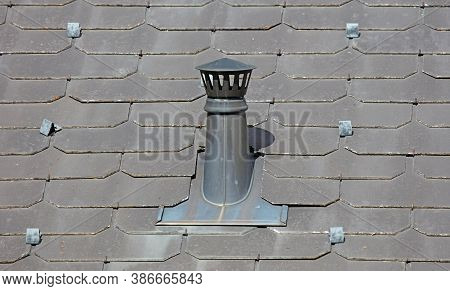 Modern Chimney And Roof, Metal Chimney, Grey Roof