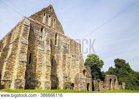 Battle, Sussex, Uk - June, 03, 2017: Battle Abbey Ruins In Battle, Sussex, Uk.