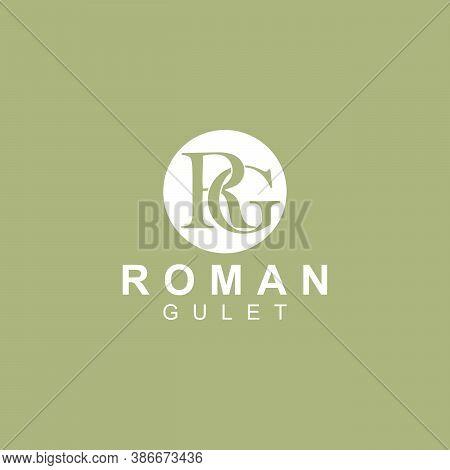 Elegant Initials, R And G Logo Design Vector