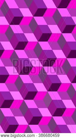 Cubic Seamless Geometric Isometric Pattern. Abstract Vector Cube. Modern Graphic Design.