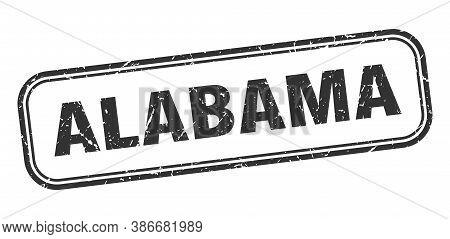 Alabama Stamp. Alabama Black Grunge Isolated Sign