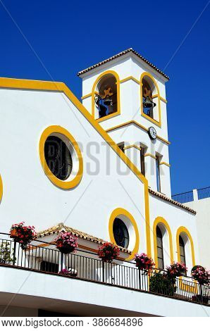 Church And Bell And Clock Tower, Benahavis, Costa Del Sol, Malaga Province, Andalucia, Spain, Europe
