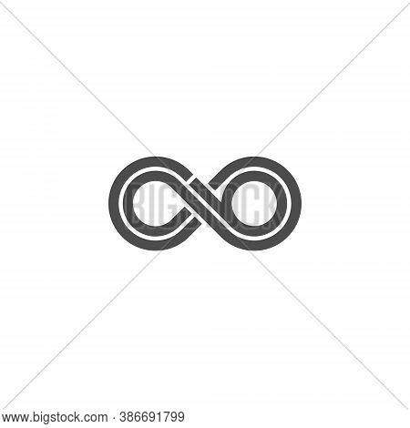Infinity Logo Design Illustration - Infinite Vector Endless Eternity Loop Motion Space Element Geome