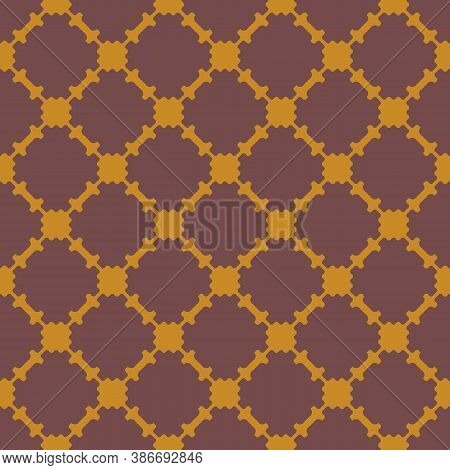 Vector Geometric Seamless Pattern. Vintage Style Background. Abstract Texture With Ornamental Grid,
