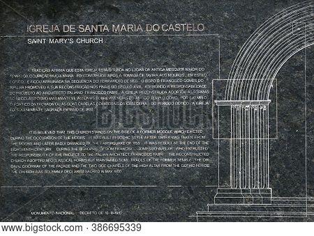 Tavira, Portugal - June 12, 2017 - View Of The St Marys Church (igreja De Santa Maria Do Castelo) In