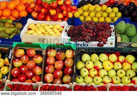 Frigiliana, Spain - March 19, 2008 - Fruit And Veg For Sale Outside Shop, Frigiliana, Spain - March