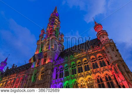 Grote Markt in Brussels Belgium - architecture background