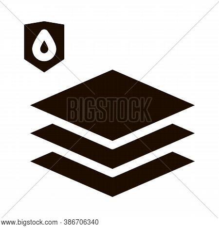 Waterproof Material Limoleum Floor Glyph Icon. House Office Repair Waterproof Material, Industrial U