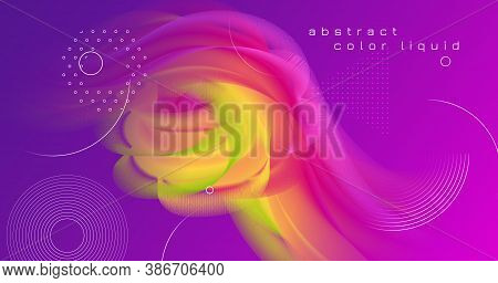Vibrant Design. 3d Abstract Movement. Dynamic Template. Liquid Modern Vibrant Design. Geometric Flui