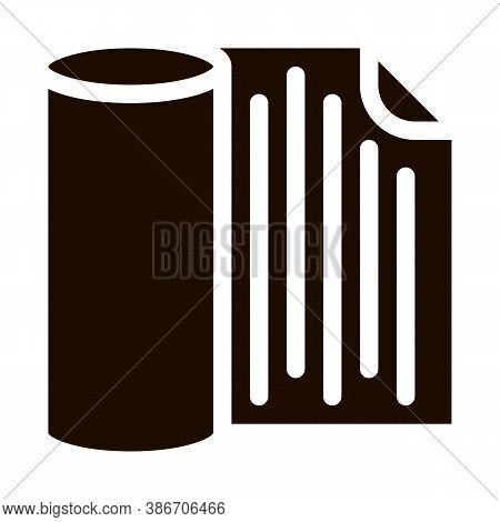Waterproof Material Napkin Vector Icon. Waterproof Material Table-napkin Sudarium Towel, Industrial