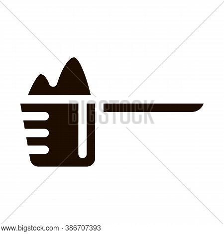 Scoop Of Whey Protein Sport Vector Icon. Creatine Powder Sport Nutrition For Sportsman Pictogram. Di