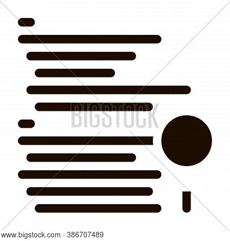 Magnifier Search Code Mistake Vector Line Icon. Programming Coding System, Data Encryption And Code