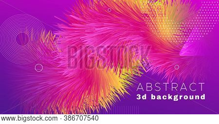 Vibrant Design. Fluid Dynamic Movement. Graphic Background. Liquid Music Vibrant Design. Geometric W